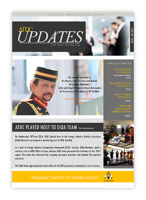 ATDC Updates July 2016
